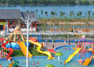 China Attractive Kids' Water Slides , Aqua Play Equipment Fiberglass Pool Slide supplier