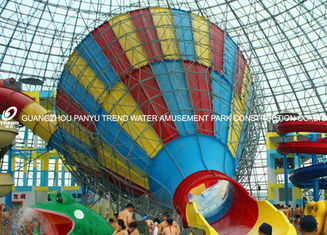 China Customized Adults Fiberglass Water Park Tornado Slide 14.6m Height for Water Park supplier