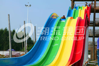 China High Speed Water Slides of Fiberglass Material for Holiday Resort Giant Outdoor Water park supplier