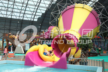 China Indoor Fiberglass Aqua Park Equipment 2 Persons Water World Water Slide supplier