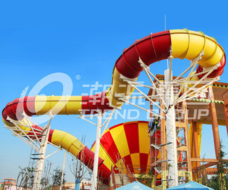 China Funny Giant Super Tornado Water Slide , Capacity 720 Riders Per Hour for Aqua Park supplier