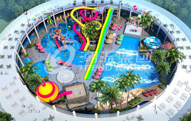 China Trend Hotspring Waterpark Project , Fiberglass Water Park Equipment  / Customized Aqua Park Project supplier