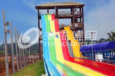 China 13m Rainbow Custom Water Slides For 6 Guests Per Time , Amusement Park supplier
