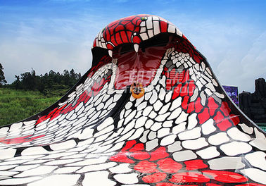 China King Cobra Fiberglass Water Slides With The Slide Length Of 112m for Water Park supplier