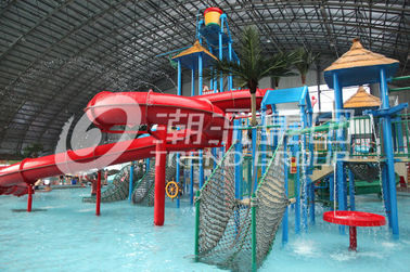 China Customized Children Water Slides Amusement Park Games With Galvanized Steel Support supplier
