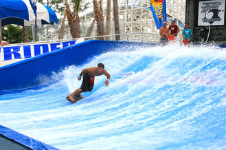 China Attraction Flowrider Water Ride , Waterproof Single Rider Wave Skid Board supplier