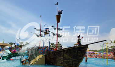 China Corsair Aqua Play Water Park Equipment / Customized Fiberglass Pirate Ship supplier