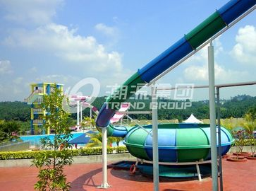 China Customized Exciting Aqua Park Fiberglass Water Slides / Body Slide for Water Fun supplier