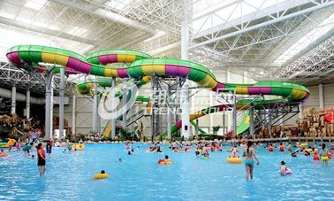 China Aquatic Playground Equipment , Large Water Slides Capacity for Family Fun in Big Water Park supplier