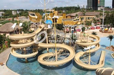 China Giant Customized Water Playground Equipment for Aqua Theme Park Fiberglass Water Slide supplier