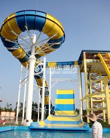 China Giant Aqua Park Equipment Exciting Swimming Pool Fiberglass Waterslides For Adults supplier