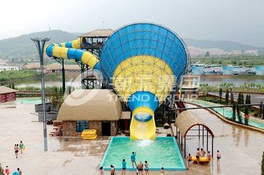 China Interesting big Fiberglass Water Slides for 4 persons / time supplier
