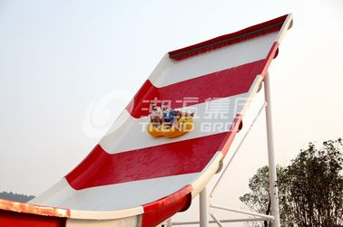 China Long Raft Spiral fiberglass Water Slides With Two Person Riding supplier