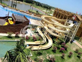 China Custom Fiberglass Water Slides for amusement park with 1 year Warranty supplier