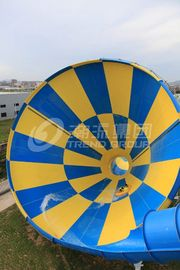 China Colorful Outside Fiberglass Adult Water Slide 14.6m Platform Height In Themed Park supplier