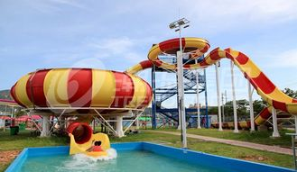 China Fiberglass Aqua Park Water Slides with bowl ride HS code 95069900 supplier