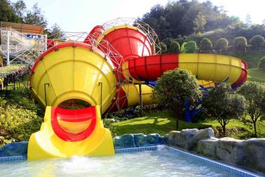 China Funny Outdoor Park Water Slide Fiberglass Tantrum Valley For 480 Riders Per Hour supplier