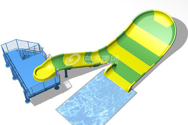 China Small Boomerang Fiberglass Water Slides With Two Riders Per Raft SGS supplier