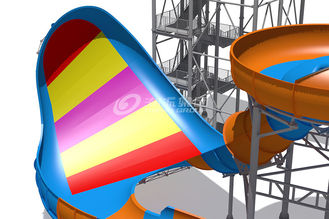 China Giant Outside Fiberglass Water Slide For Adults Customized Color 20m Tower Height supplier