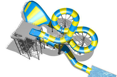 China Magic Flying Blanket Fiberglass Water Slides Platform 20m For Theme Park Project supplier