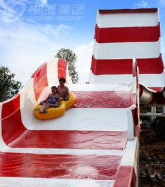 China Amusement Rainbow Mushroom Swimming Pool Water Slide / Outdoor Water Play Equipment supplier