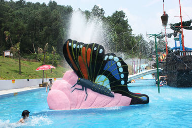 China Indoor Water Playground Equipment Kids Water Pool Slides Butterfly Fiberglass supplier