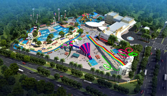 China Large Holiday Waterpark Project , Indoor Amazing Funny Water Park / Customized water slide supplier
