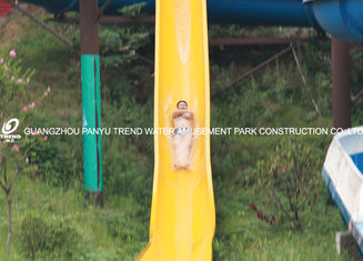 China Fiberglass Custom Water Slides High Speed For Amusement Water Park 1 Person / Lane supplier