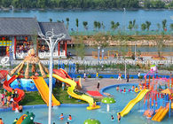 China Attractive Kids' Water Slides , Aqua Play Equipment Fiberglass Pool Slide factory