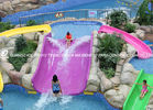 China Fiberglass kids residential pool slide for water play / children water slides factory