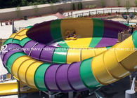 China 16m Space Bowl Water Slide Red / Yellow Aqua Park Construction company