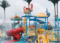 China Professional Kids Water Play Equipment Structures With Water Slide , Climb Net factory