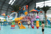 China Interactive Fiberglass  Water House / Slide Toddler Playground Equipment  for Water Park 150 Riders / Time company