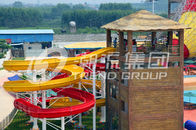 China 304 Stainless Steel Screw Fiberglass Water Slides 1m Width OEM for Water Park company