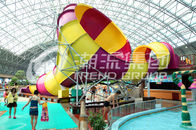 China Small Fiberglass Pool Slides 30x20m Tornado Water Slide For Water Playground in Water Park company