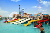 China Fun Kids' Water Slides Fiberglass Pool Slide For Outdoor Water Park Equipment company