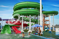 China Green Big Commercial Pool Water Slides For Theme Park / Backyard Water Slides Kids company