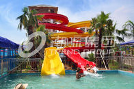 China Customized Family Aqua Park Slides Outdoor Fiberglass Water Slide For Amusement Park company