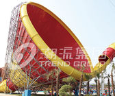 China Blue Large Tornado Water Slide Games Ashland / DSM Resin For Water Park factory