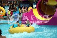 China Children waterslide above ground pool water slide for family interactive water play company