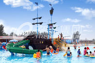 China Fiberglass Aqua Play Equipment Pirate Ship Used to Build Water Parks factory