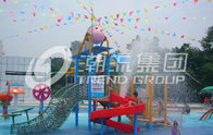 China Promotion Kids Water Slides for Children Play Area / Equipment Floor Space 9.5*6.5m factory