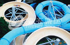China Funny FPR Water Slide Games Double Open And Close Cool Water Slides for Water Park company