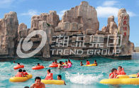 China Fashional Fiberglass Water Parks With Wave Pools Popular Cool / Water Slide company