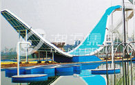 Good Quality Fiberglass Water Slides & Water Amusement Park Equipmment Swing Water Slide for Ourdoor 240 riders / h on sale