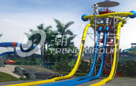 China Extraterrestrial Fiberglass Super Tube Water Slide Free Fall Tower Rides HT-52 480rider / h company