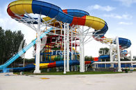 Good Quality Fiberglass Water Slides & Family Rafting Aqua Park Fiberglass Waterpark Slide 6 Person/time on sale
