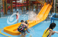 China Customized 3 Riders Kids' Water Slides Aqua Park Equipment , Pink / Orange / Blue factory