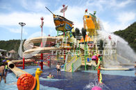 Good Quality Fiberglass Water Slides & Safe Pirate Ship Medium Water Play Equipment Funny Slide Resort on sale