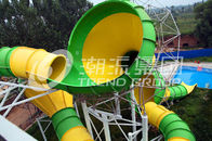 Good Quality Fiberglass Water Slides & Exciting Aqua Park Equipment Fiberglass Water Slide For Aqua Parks on sale